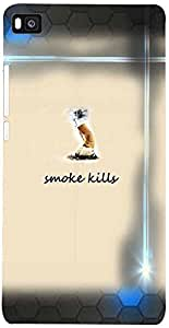 PRINTVISA Quotes Smoke Case Cover For Huawei Ascend P8