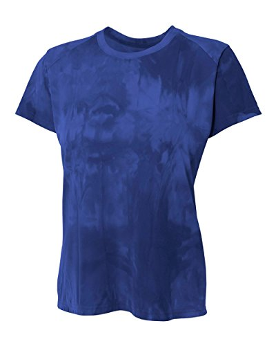 YogaColors Women's Performance Fitness Clouds Short Sleeve Top With UPF 30