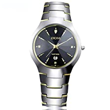 buy Dom Mens Gold Tungsten Steel Quartz Wrist Watches