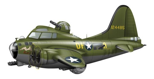 Stocktrek Images Cartoon Illustration of a Boeing B-17 Flying Fortress Peel and Stick Fabric Wall Sticker by Wallmonkeys Wall Decals