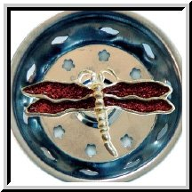 1 X Enamel Kitchen Strainer Red Glitter Dragonfly