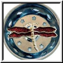 1 X Enamel Kitchen Strainer Red Glitter Dragonfly