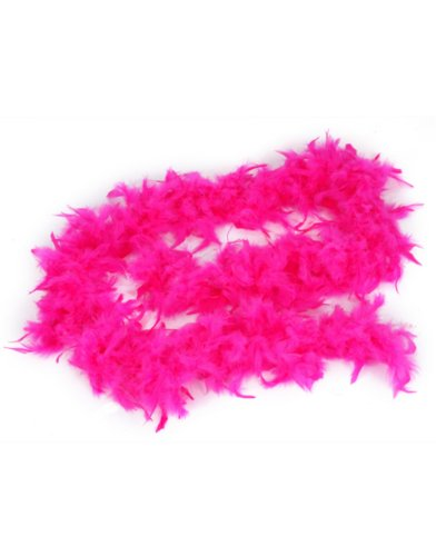 Fuchsia Pink Feather Boa (6Ft) Girls Princess Tea Party Dress Up Costume Boa