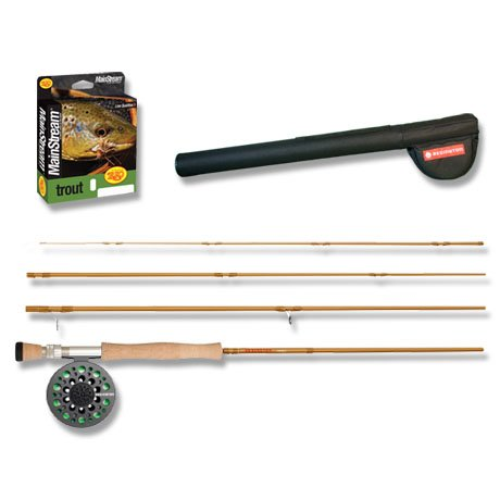 Redington Pursuit Outfit Reel, Line Weight-8, 9-Feet, 4-Piece, Brown