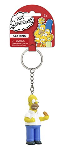 Fox The Simpsons Homer with Donut 3D PVC Key Ring - 1