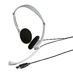 サンワサプライ USBヘッドセット ホワイト  MMZ-HSUSB10W