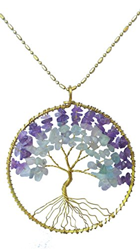 dew-drops-purple-amethyst-and-fluorite-tree-of-life-pendant-brass-long-necklace-gemstone-chakra-jewe