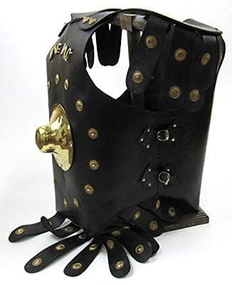 Nauticalmart Faux Leather Armor Jacket w/ Brass Knob