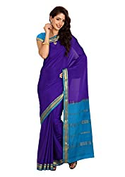 Kaushika Crepe Mysore Traditional Silk Saree Royalblue Ananda