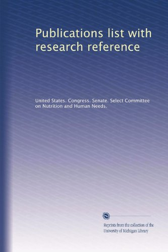 Publications List With Research Reference