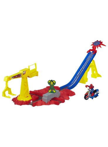 Playskool Heroes Marvel Super Hero Adventures Spider-Man Crane Capture Track Set - 1