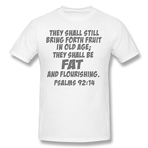 Psalms 92:14 100% Cotton T Shirt For Uomo Newest T Shirt XL