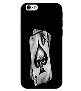 APPLE IPHONE 6 SKULL CARD Back Cover by PRINTSWAG