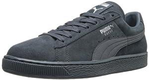PUMA Men's Suede Classic Leather Formstripe Sneaker,Turbulence/PUMA Silver,10.5 M US