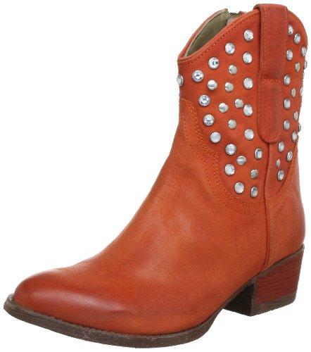 Manas MARILU' Cowboy Boots Womens Orange Orange (ARANCIO) Size: 2 (35 EU)