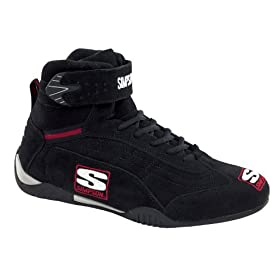 Simpson Racing AD115BK Adrenaline Black Size 11-1/2 SFI Approved Driving Shoes