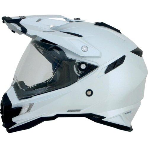 AFX FX-41DS Solid Helmet , Gender: Mens/Unisex, Helmet Type: Offroad Helmets, Helmet Category: Offroad, Distinct Name: Pearl White, Primary Color: White, Size: Sm 0110-3749