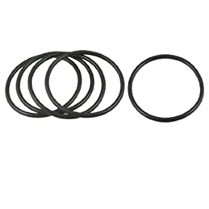 62mm x 55mm x 3.5mm Rubber Sealing Oil Filter O Rings Gaskets 5 Pcs
