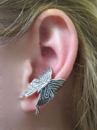 Sterling Silver Butterfly EAR Cuff Handcrafted NEW
