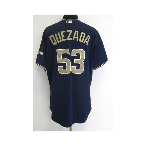2010 San Diego Padres Jackson Quezada #53 Game Issued Blue Alternate