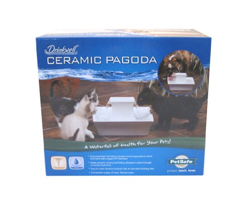 PetSafe Drinkwell Ceramic Pagoda Fountain for Pets