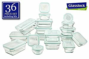 Airtight anti spill proof tempered glasslock storage containers 36pc set microwave - Anti spill wine glass ...