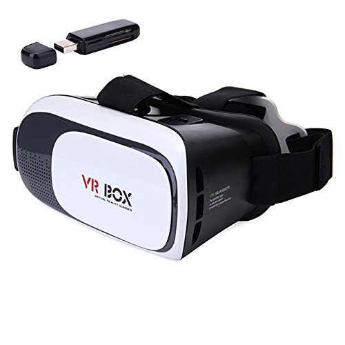 Gokelly VR gafas 3D Auriculares VR 3D Realidad virtual Caja con Ajustable Lente y Correa for iPhone 5 5s 6 plus Samsung S3 Edge Note 4, 3.5-5.5 inch Universal 3D VR Realidad Virtual Gafas de video 3D Películas
