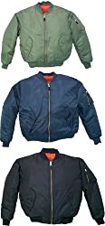 Reversible Air Force MA1 Flight Jacket Military MA-1 Style