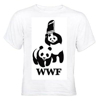 WWF panda wrestling White T-Shirt (Small)