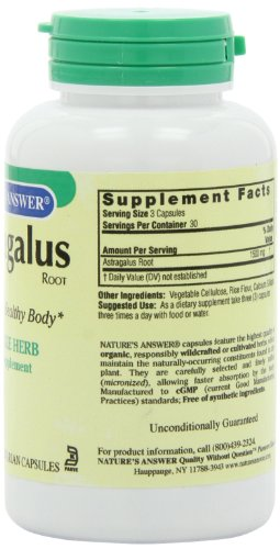 Nature S Herbs Astragalus Root Capsules  Count