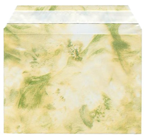 цена на Floral Green 4 5/8 x 6 7/16 Cello Sleeve - 100 per pack