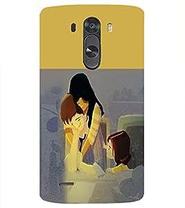 PrintVisa Cute Cartoon Family 3D Hard Polycarbonate Designer Back Case Cover for LG G3 MINI