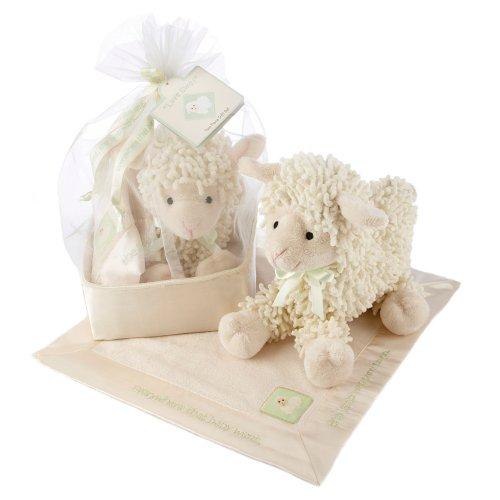 Baby Aspen Love Ewe Plush Lamb and Lovie Gift Set