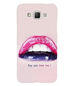 Vizagbeats Say you Love Me Quote Back Case Cover for Samsung Galaxy Grand 3