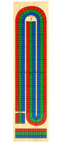 3-lane Wooden Cribbage Board