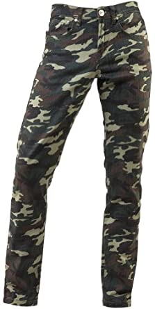 TNM Camouflage Green Skinny Jeans (Camouflage Green, 32)