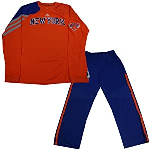 Tyson Chandler Set - NY Knicks 2012-2013 Season Game Used Orange Warmup Long Sleeve... by Steiner Sports