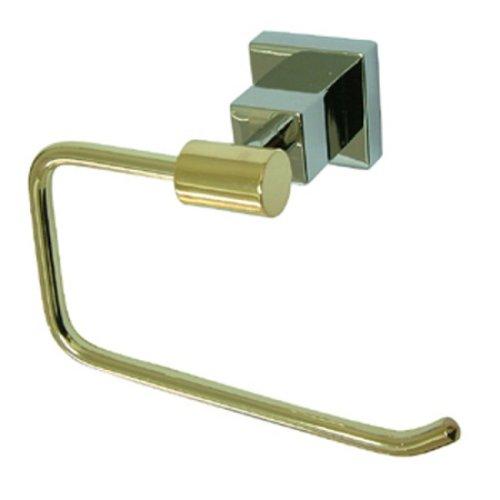 kingston-brass-bah8648z3cpb-claremont-paper-holder-polished-chrome-and-polished-brass