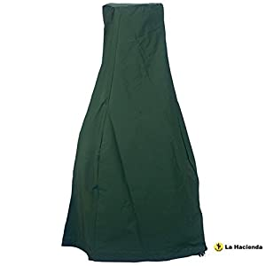 La Hacienda 60534 Large Deluxe Chimenea Rain Cover - Green