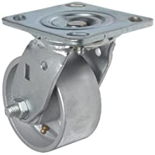 RWM Casters 45 Series Plate Caster, Swivel, Polyolefin Wheel