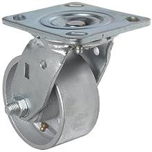 RWM Casters 45 Series Plate Caster, Swivel, Polyolefin Wheel