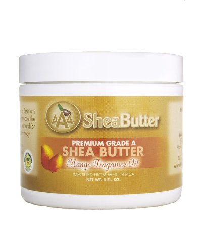 4oz Certified Grade A Shea Butter with Mango fragance oils (120g)