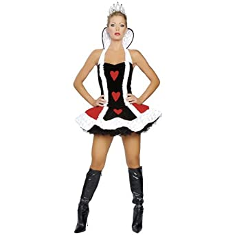 Queen of Hearts Costume - Medium/Large - Dress Size 6-10