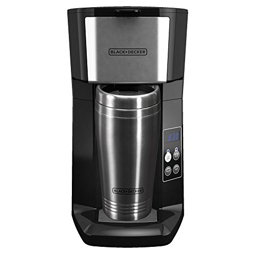 BLACK+DECKER CM625B Programmable Single Serve Coffee Maker with Travel Mug, Black Home Garden ...