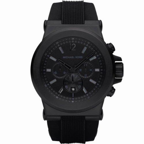 Michael Kors Men's MK8152 Black Silicone Quartz Watch with Black Dial