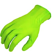 "Showa Best 7705PFT N-DEX Free Nitrile Glove, Powder Free, 9.5"" Length, 4 mils Thick"
