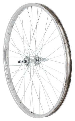 Avenir 36H Nutted Cruiser Style Rear Wheel with 7 Speed Freewheel Hub (Silver, 26 x 1.75-Inch)