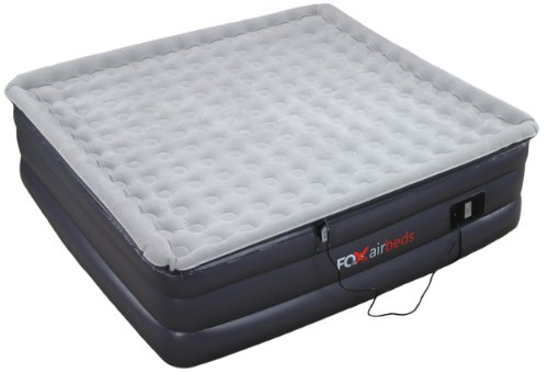 Raised King Air Mattress by Fox Air Beds - Plush High Rise Inflatable Airbed