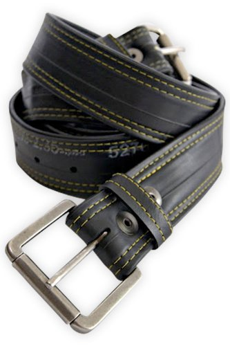 Alchemy Goods Recycled Bike Tube Vegan Leather Belt
