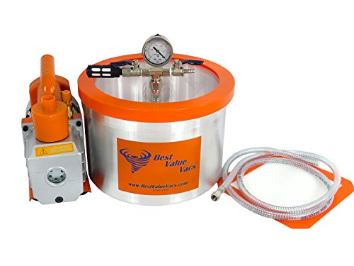 2 Gallon Vacuum Chamber with 3 CFM Single Stage Pump Kit (2 Gallon Vac compare prices)